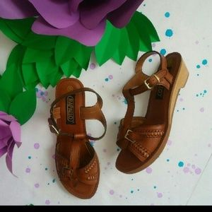 Shoes - Rapallo Vintage Sandals Wedge- Run Small